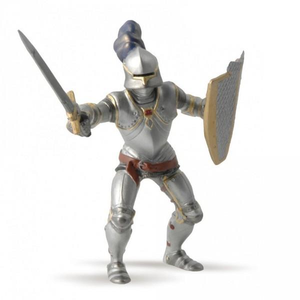 Figurine Chevalier en armure bleu - Papo-39245