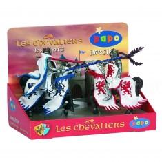 Figurines Chevaliers : Boîte pr'ésentoir 4 figurines