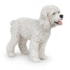 Figurine Chien : Caniche blanc
