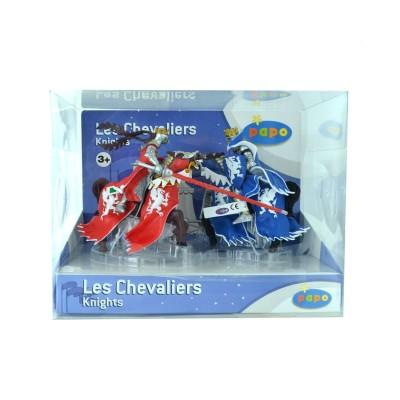Figurines Chevaliers: Coffret 5 figurines : Chevaliers et reine - Papo-80600
