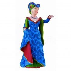 Figurine Dame à la licorne bleue