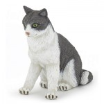 Figurine chat : Chatte assise