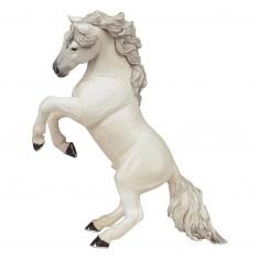 Figurine cheval cabré blanc