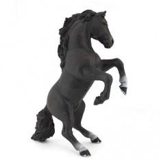 Figurine cheval cabré noir