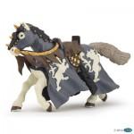 Figurine Cheval du Chevalier Noir à la hache