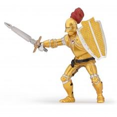Figurine Chevalier or en armure