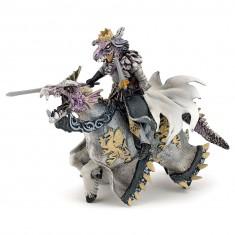 Figurine fantastique : Roi sorcier et son cheval