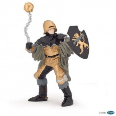 Figurine Officier à la masse d'arme noir et bronze