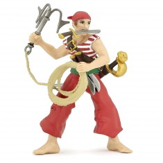 Figurine pirate rouge au grappin