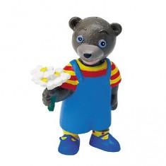 Figurine Petit ours brun au bouquet