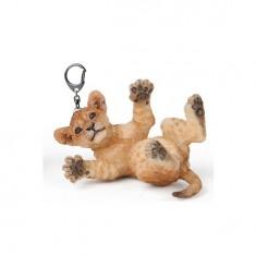 Porte-clés Lion : Lionceau sur le dos
