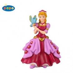 Figurine Princesse rose à l'oiseau