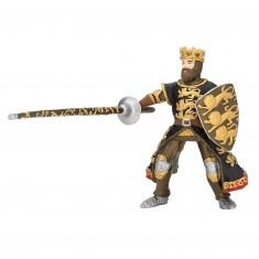 Figurine Roi Richard à la lance noir et or