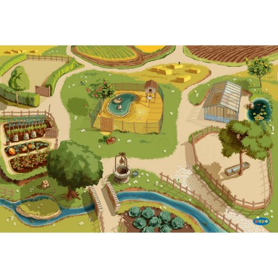 Tapis de jeu la ferme - Papo-60501