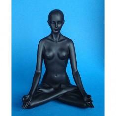 Figurine Body Talk Black : Padmasana : Femme position yoga pose lotus