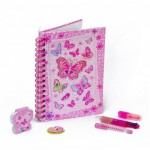Journal intime avec accessoires Papillon