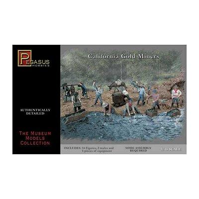 Figurines Chercheurs d'or en Californie: 1/48 - Pegasus-PEG7007