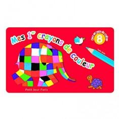 Crayons 8 crayons de couleur Elmer : Jumbo