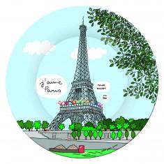 Assiette à dessert : Tour Eiffel