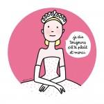 Assiette à dessert Princesses : Je dis toujours s'il te plaît et merci
