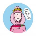 Assiette à dessert Princesses : Je ne fais pas de bruit à table