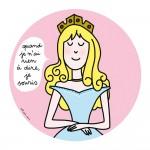 Assiette à dessert Princesses : Quand je n'ai rien à dire, je souris