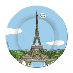 Assiette à dessert Tour Eiffel