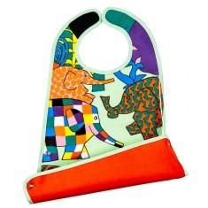 Bavoir Elmer grand modèle 2 en 1 en toile cirée