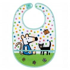 Bavoir en toile cirée Mimi la souris et son chat