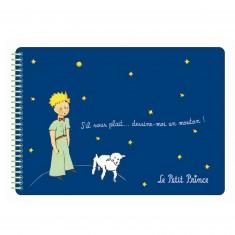 Carnet à dessins à spirales Le Petit Prince : Bleu foncé