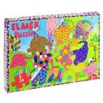 Puzzle 24 pièces : Elmer et ses congénères