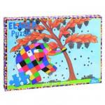 Puzzle 9 pièces : Elmer cuillette des fruits