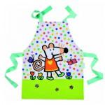 Tablier simple en toile cirée : Mimi dans son jardin