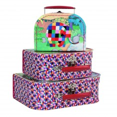 Valise en carton Elmer : Petit modèle