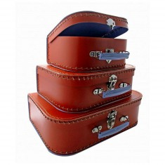 Valise en carton rouge écarlate : Petit modèle
