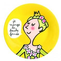 Assiette Princesses - Princesses : La bouche fermée
