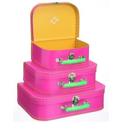 valise en carton rose petit mod le petit jour paris le lutin rouge. Black Bedroom Furniture Sets. Home Design Ideas