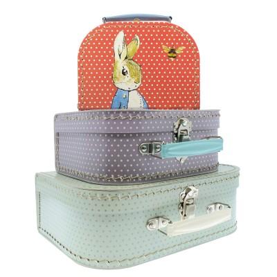 set de 3 valises en carton pierre lapin jeux et jouets. Black Bedroom Furniture Sets. Home Design Ideas