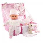 Poupon Petit Câlin 28 cm : Mallette bébé adoré