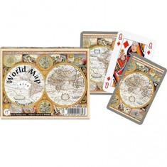 Jeu de cartes : Coffret de 2 x 55 cartes : Carte du monde