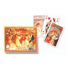 Jeux de cartes : Mucha Sarah Bernhardt 2 x 55 cartes