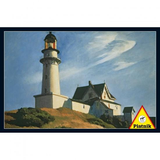 Puzzle 1000 pièces : Edward Hopper : Le phare à deux éclats - Piatnik-5385