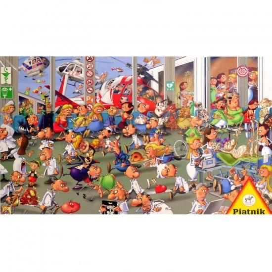 Puzzle 1000 pièces : François Ruyer : Urgences - Piatnik-5372
