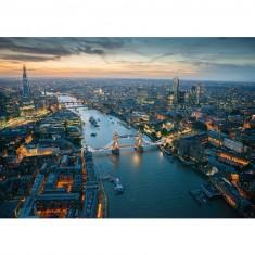 Puzzle 1000 pièces : L'East End de Londres vu du ciel