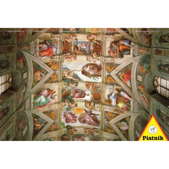Puzzle 1000 pièces : Michel-Ange : Plafond de la Chapelle Sixtine - Piatnik-5393