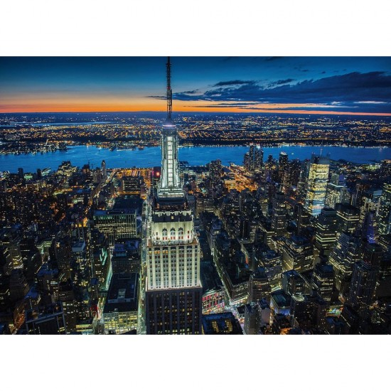 Puzzle 1000 pièces : New York by Night - Piatnik-5411