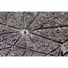 Puzzle 1000 pièces : Paris vue du ciel