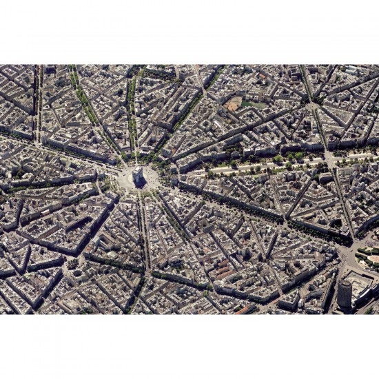 Puzzle 1000 pièces : Paris vue du ciel - Piatnik-5376