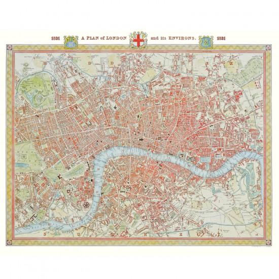 Puzzle 1000 pièces : Plan de Londres en 1831 - Piatnik-5424