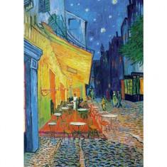 Puzzle 1000 pièces : Van Gogh : Terrasse du café le soir